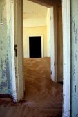 Sand Dune Inside A Kolmanskop House