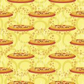 Seamless background, hot pizza
