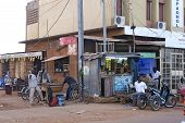 At The Corner Of A Street In Ouagadougou