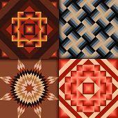Retro colored geometric patterns background
