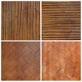 Native Thai style bamboo wall  Bamboo pattern basketry handmade