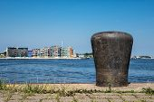 picture of bollard  - Bollard in the city port in Rostock  - JPG