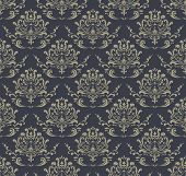 Retro Wallpaper, seamless damask pattern.