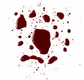 pic of accident victim  - Blood drip on white background - JPG