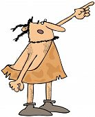 Caveman pointing