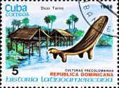 Postage Stamp Shows Example Dujo Taino Culture