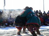 Nadym, Russia - March 15, 2008: National Holiday - Day Of The Reindeer Herders.
