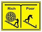 Poor Rich Concept