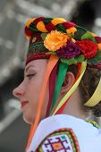 ZAGREB, CROATIA - JULY 16: Folk group Selkirk, Manitoba, Ukrainian Dance Ensemble Troyanda from Canada during the 48th International Folklore Festival in center of Zagreb, Croatia on July 16, 2014