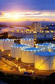 Oil tanks at sunset , hongkong tung chung