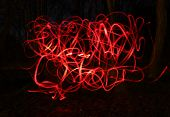 Blur photo of red bike lamps