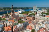 View at Riga from the tower of Saint Peter's Church, Latvia