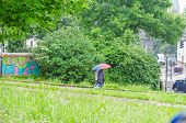 Aelters Couple With Umbrella