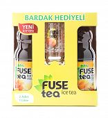 Ankara, Turkey - June 21, 2012: Two bottles of Fuse iced tea in a promotion pack isolated on white b