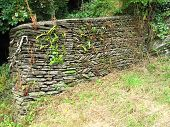 Rural Slate And Rock Wall