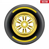 vector Race wheel and tire symbol