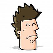 cartoon man feeling sick