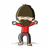 cartoon happy man with beard