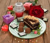 Piece Of Cake With Chocolate Truffles