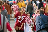 Female Alabama Fans Pose For Photo Outside Georgia Dome