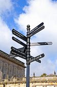 Buxton town signpost.