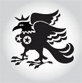 Ancient symbol majestic eagles logo