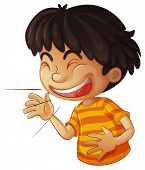 Illustration of a boy laughing