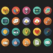 Web flat icons