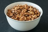 Walnuts In White Bowl
