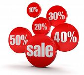 Sale and percent  (clipping path included)