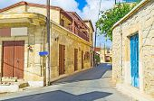 stock photo of neo  - Neo Chorio village is the famous centre of green tourism located in Paphos district next to Akamas peninsula Cyprus - JPG