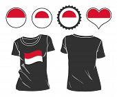 t-shirt with the flag of Monaco