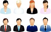 picture of retort  - Set Of Different Business People Icons - JPG