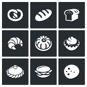 Bakery And Fast Food Icon Set