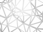 3D Wired Construction With Chaotic Shape Isolated On White
