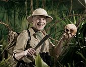Explorer With Human Skull
