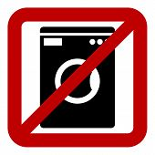 foto of no clothes  - No washing machine icon on white background - JPG