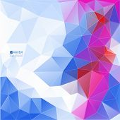 Abstract vector background with triangles and polygon mesh.