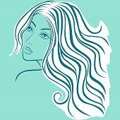 Beautiful Blond Women Sketching Head