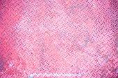 Seamless Vintage Pink Steel Diamond Plate Texture