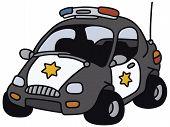 Funny american police car