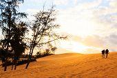 Twin Human On Mui Ne Sand Dune And Sunset