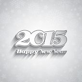 Typography design for the Happy New Year