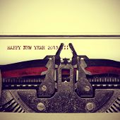 happy new year 2015 written with an old typewriter, with a retro effect