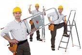 Handyman with a ladder