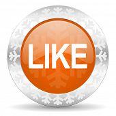like orange icon, christmas button