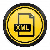 xml file icon, yellow logo,