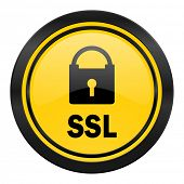 ssl icon, yellow logo,