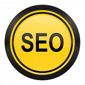 seo icon, yellow logo,