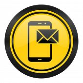 mail icon, yellow logo, post sign
